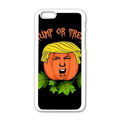 Trump Or Treat  Apple Iphone 6/6s White Enamel Case by Valentinaart