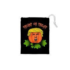 Trump Or Treat  Drawstring Pouches (xs)  by Valentinaart