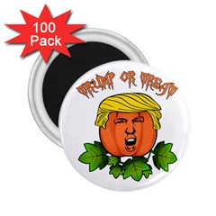 Trump Or Treat  2 25  Magnets (100 Pack)  by Valentinaart