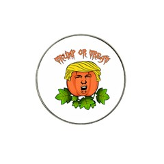 Trump Or Treat  Hat Clip Ball Marker by Valentinaart