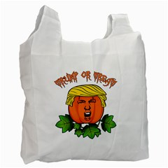 Trump Or Treat  Recycle Bag (two Side)  by Valentinaart