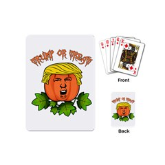 Trump Or Treat  Playing Cards (mini)  by Valentinaart