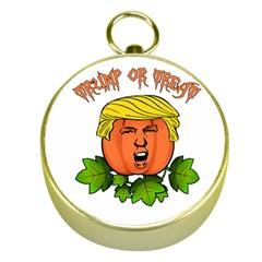 Trump Or Treat  Gold Compasses by Valentinaart