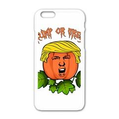 Trump Or Treat  Apple Iphone 6/6s White Enamel Case by Valentinaart
