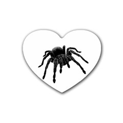 Tarantula Rubber Coaster (heart)  by Valentinaart
