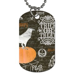 Vintage Halloween Dog Tag (two Sides) by Valentinaart