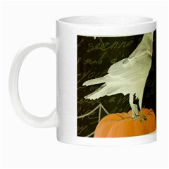 Vintage Halloween Night Luminous Mugs by Valentinaart