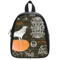 Vintage Halloween School Bag (small) by Valentinaart