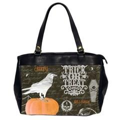 Vintage Halloween Office Handbags (2 Sides)  by Valentinaart