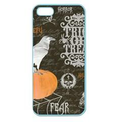 Vintage Halloween Apple Seamless Iphone 5 Case (color) by Valentinaart