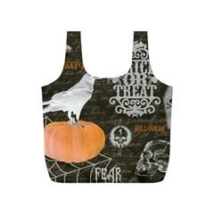Vintage Halloween Full Print Recycle Bags (s)  by Valentinaart