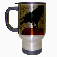 Vintage Halloween Travel Mug (silver Gray) by Valentinaart