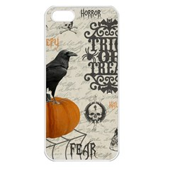 Vintage Halloween Apple Iphone 5 Seamless Case (white) by Valentinaart
