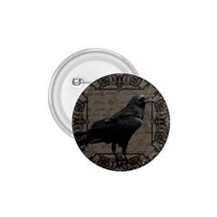 Vintage Halloween Raven 1 75  Buttons by Valentinaart