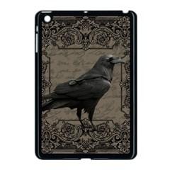 Vintage Halloween Raven Apple Ipad Mini Case (black) by Valentinaart