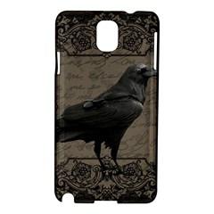 Vintage Halloween Raven Samsung Galaxy Note 3 N9005 Hardshell Case by Valentinaart