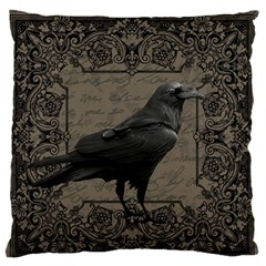 Vintage Halloween Raven Standard Flano Cushion Case (two Sides) by Valentinaart