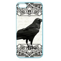 Vintage Halloween Raven Apple Seamless Iphone 5 Case (color) by Valentinaart