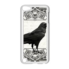 Vintage Halloween Raven Apple Ipod Touch 5 Case (white) by Valentinaart