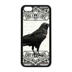 Vintage Halloween Raven Apple Iphone 5c Seamless Case (black) by Valentinaart