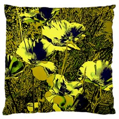 Amazing Glowing Flowers 2c Large Flano Cushion Case (two Sides) by MoreColorsinLife