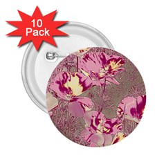 Amazing Glowing Flowers 2b 2 25  Buttons (10 Pack)  by MoreColorsinLife