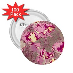 Amazing Glowing Flowers 2b 2 25  Buttons (100 Pack)  by MoreColorsinLife