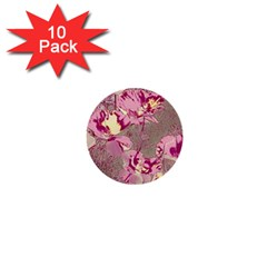 Amazing Glowing Flowers 2b 1  Mini Buttons (10 Pack)  by MoreColorsinLife