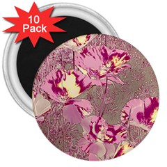 Amazing Glowing Flowers 2b 3  Magnets (10 Pack)  by MoreColorsinLife