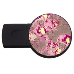 Amazing Glowing Flowers 2b Usb Flash Drive Round (4 Gb) by MoreColorsinLife