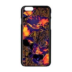 Amazing Glowing Flowers 2a Apple Iphone 6/6s Black Enamel Case by MoreColorsinLife