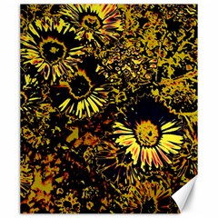 Amazing Neon Flowers B Canvas 20  X 24   by MoreColorsinLife