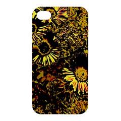 Amazing Neon Flowers B Apple Iphone 4/4s Premium Hardshell Case by MoreColorsinLife