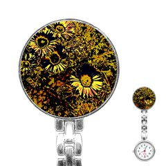 Amazing Neon Flowers B Stainless Steel Nurses Watch by MoreColorsinLife