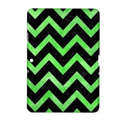 Chevron9 Black Marble & Green Watercolor Samsung Galaxy Tab 2 (10 1 ) P5100 Hardshell Case
