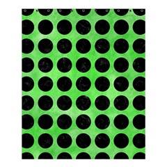 Circles1 Black Marble & Green Watercolor (r) Shower Curtain 60  X 72  (medium)  by trendistuff