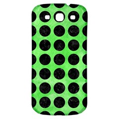 Circles1 Black Marble & Green Watercolor (r) Samsung Galaxy S3 S Iii Classic Hardshell Back Case by trendistuff