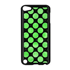 Circles2 Black Marble & Green Watercolor Apple Ipod Touch 5 Case (black) by trendistuff