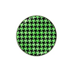 Houndstooth1 Black Marble & Green Watercolor Hat Clip Ball Marker (10 Pack) by trendistuff