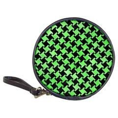 Houndstooth2 Black Marble & Green Watercolor Classic 20 Cd Wallets by trendistuff