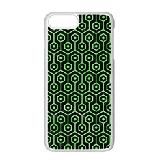 Hexagon1 Black Marble & Green Watercolor Apple Iphone 7 Plus White Seamless Case by trendistuff