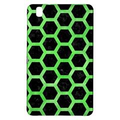 Hexagon2 Black Marble & Green Watercolor Samsung Galaxy Tab Pro 8 4 Hardshell Case by trendistuff