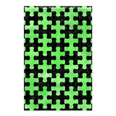 Puzzle1 Black Marble & Green Watercolor Shower Curtain 48  X 72  (small)  by trendistuff