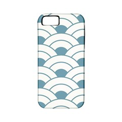 Art Deco,shell Pattern,teal,white Apple Iphone 5 Classic Hardshell Case (pc+silicone) by 8fugoso