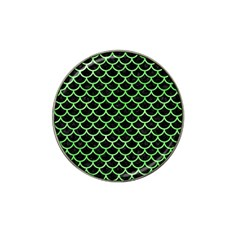Scales1 Black Marble & Green Watercolor Hat Clip Ball Marker (10 Pack) by trendistuff