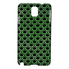 Scales2 Black Marble & Green Watercolor Samsung Galaxy Note 3 N9005 Hardshell Case by trendistuff