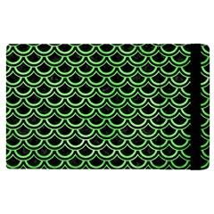 Scales2 Black Marble & Green Watercolor Apple Ipad Pro 9 7   Flip Case by trendistuff