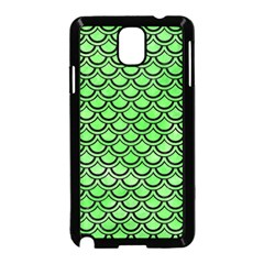 Scales2 Black Marble & Green Watercolor (r) Samsung Galaxy Note 3 Neo Hardshell Case (black) by trendistuff