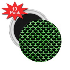 Scales3 Black Marble & Green Watercolor 2 25  Magnets (10 Pack)  by trendistuff
