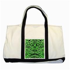 Skin2 Black Marble & Green Watercolor (r) Two Tone Tote Bag by trendistuff